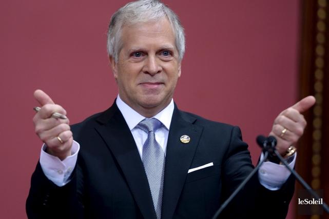 Le député caquiste nouvellement élu François Paradis a... (Le Soleil, Erick Labbé)