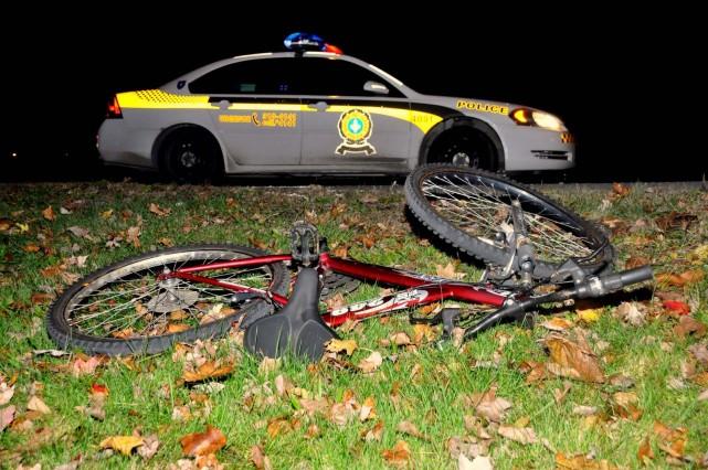 Un cycliste a été grièvement blessé alors qu'il... (Photo collaboration spéciale Éric Beaupré)