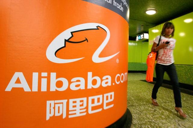 C'est la première fois que le titre d'Alibaba... (PHOTO MIKE CLARKE, ARCHIVES AFP)