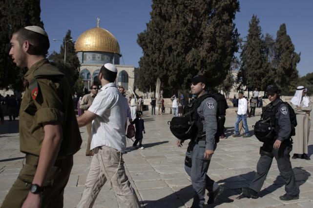 Jérusalem a connu une journée «relativement calme», à... (Photo: AFP)