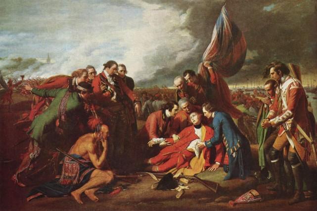 Le décès du général Wolfe, peint par Benjamin... (Bibliothèque et Archives Canada)