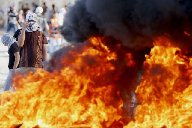 La semaine dernière, un Palestinien a foncé en... (PHOTO AMMAR AWAD, REUTERS)