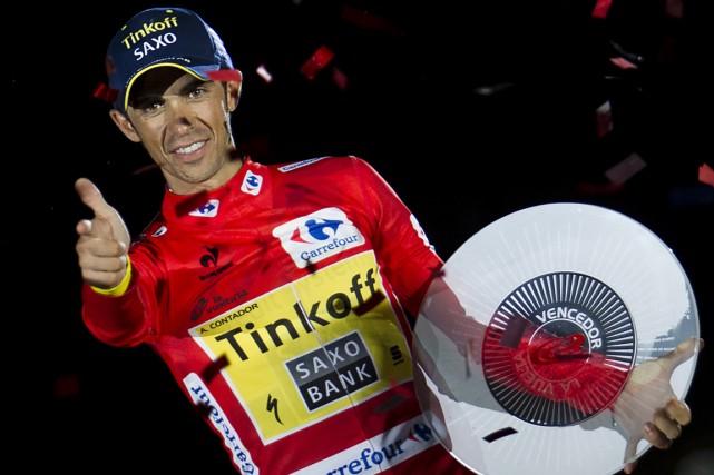 Alberto Contador a remporté le Tour d'Espagne le... (Photo Jaime Reina, archives AFP)