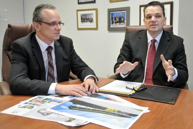 Éric Gauthier, président de la zone portuaire et... ((Archives))