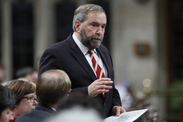 Le chef du NPD Thomas Mulcair refuse pour... (Photo Blair Gable, Reuters)