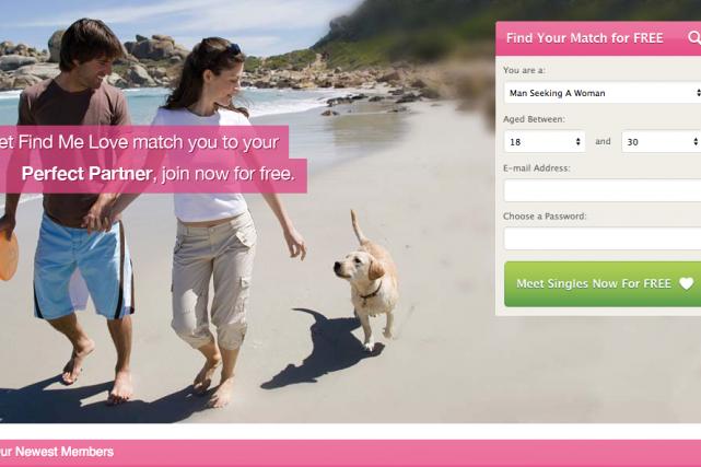 Les sites cupidswand.com, flirtcrowd.com et findmelove.com proposaient aux... (Photo tirée du site findmelove.com)