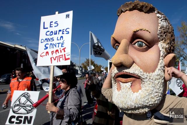 La manifestation de vendredi se veut une dénonciation... (Archives, La Presse)