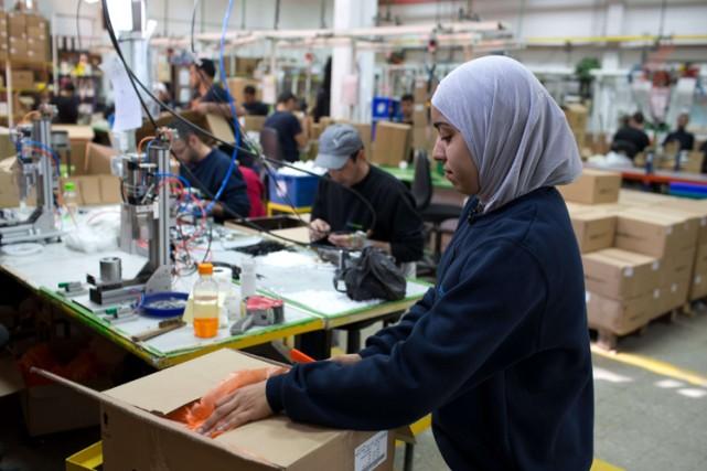 L'usine de Mishor Adoumim, établie dans une des... (Photo: AFP)