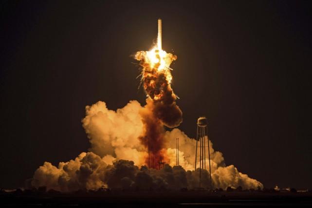 La propulsion du premier étage de la fusée... (Photo: AP)