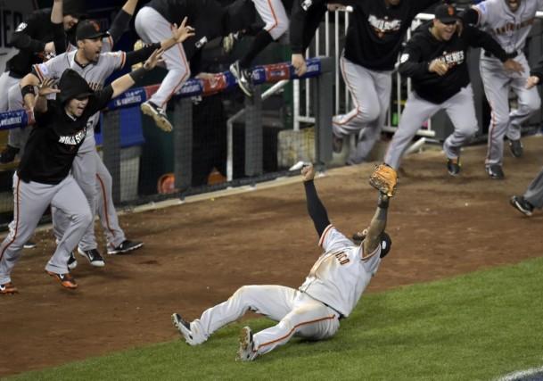 Pablo Sandoval a effectué le dernier retrait du... (USA TODAY Sports)