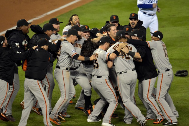 Les joueurs des Giants de San Francisco se... (Photo Denny Medley, archives USA Today Sports)