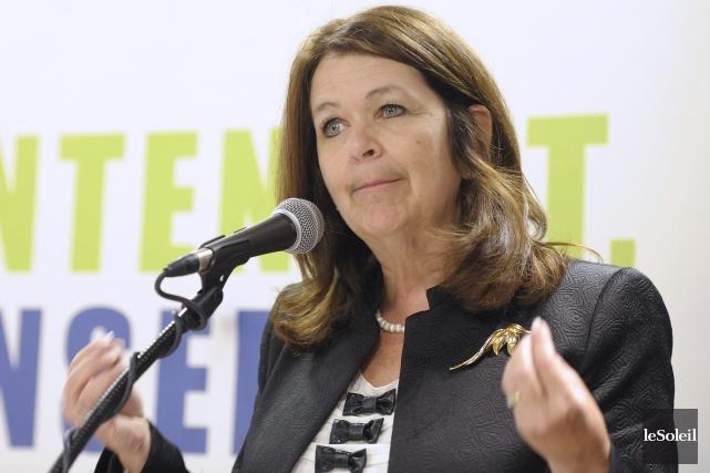 La présidente de l'Union des municipalités du Québec... (PHOTO ARCHIVES LE SOLEIL)