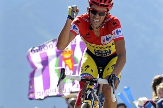 Alberto Contador... (Photo Paulo Duarte, AP)