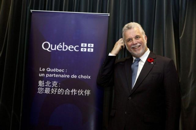 Philippe Couillard à Pékin le 29 octobre 2014.... (Photo Ng Han Guan, AP)
