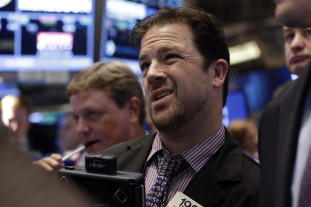Les investisseurs new-yorkais avançaient sans grande conviction depuis... (Photo Richard Drew, archives AP)