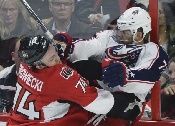 Mark Borowieckia eu du mal à quitter la... (Sean Kilpatrick, La Presse Canadienne)