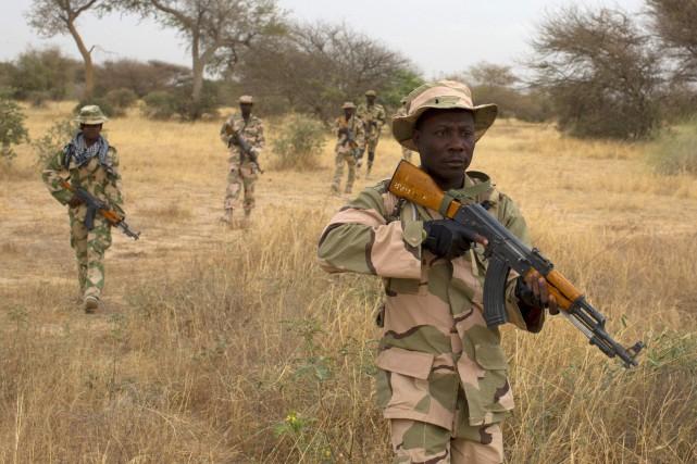 Des soldats des forces de sécurité nigériennes.... (Photo archives Reuters)