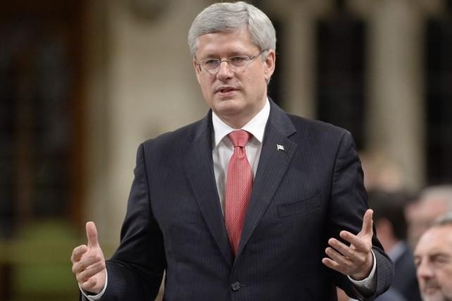 Stephen Harper... (La Presse Canadienne, Adrian Wyld)