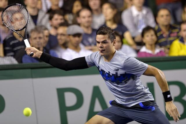 Milos Raonic peut s'assurer de participer aux finales... (Photo Miguel Medina, AFP)