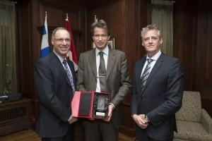 De gauche à droite: David Eidelman, Christian Boehringer,...