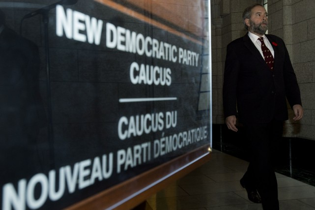 Le chef du NPD, Thomas Mulcair... (Photo Adrian Wyld, La Presse Canadienne)