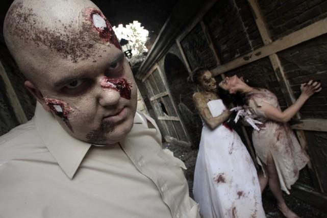 Des «zombies-médecins» iront de porte en porte vendredi soir pour sensibiliser... (Archives AP)