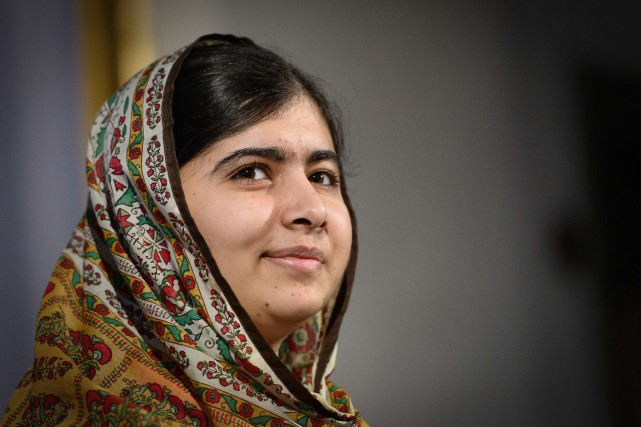 Malala, âgée de 17 ans, a gagné le... (Photo JONATHAN NACKSTRAND, AFP)