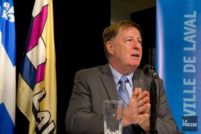 Ce matin, le maire de Laval Marc Demers... (PHOTO ALAIN ROBERGE, ARCHIVES LA PRESSE)