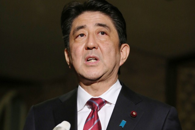 Le premier ministre japonais, Shinzo Abe.... (Photo: AFP)