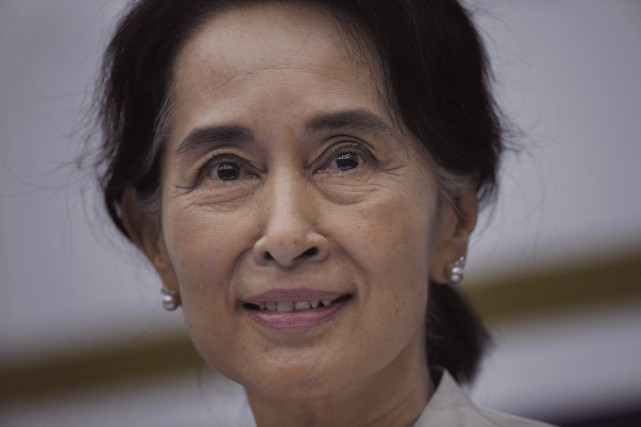 Aung San Suu Kyi... (Photo Joseph Nair, Archives AP)