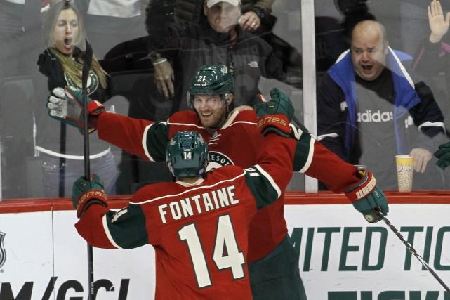 Mikko Koivu et Jason Pominville ont marqué en fusillade et le Wild du Minnesota... (Photo Ann Heisenfelt, AP)