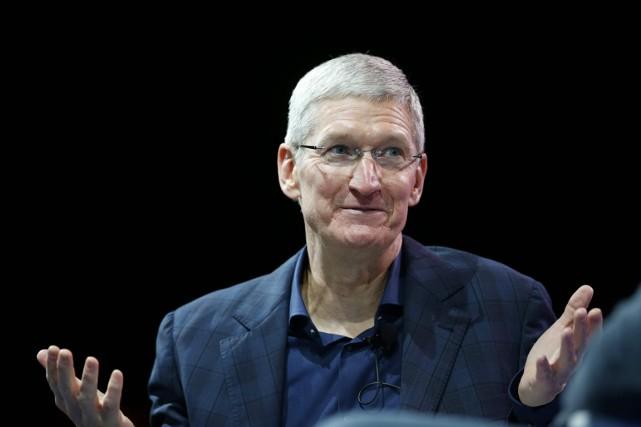 Tim Cook, grand patron d'Apple, a fait une... (Lucy Nicholson, archives REUTERS)