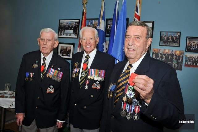 De gauche à droite, Guy Gagné, Jacques Raymond... (Photo: Émilie O'Connor, Le Nouvelliste)
