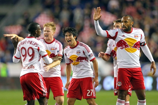 Bradley Wright-Phillips a trouvé le fond du filet deux fois pendant les 13... (Photo Adam Hunger, archives USA Today Sports)