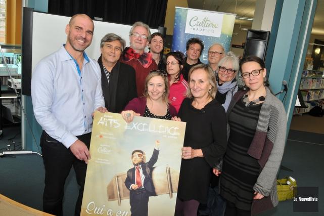 Les finalistes au 16e gala Arts Excellence de... (Photo: Émilie O'Connor, Le Nouvelliste)