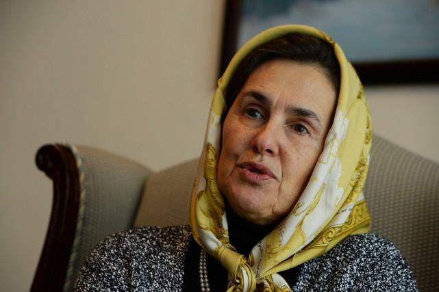Rula Ghani, l'épouse du nouveau président afghan, Ashraf... (PHOTO SHAH MARAI, AFP)