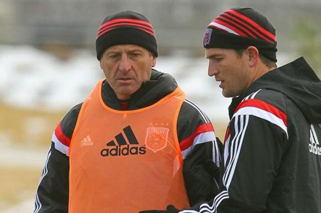 Enzo Concina (à gauche) était entraîneur-adjoint avecD.C. United... (Photo tirée du site internet de D.C. United)