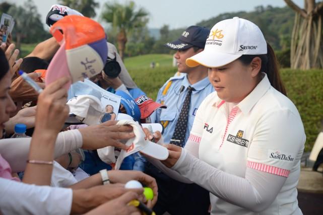 La golfeuse étoile sud-coréenne Inbee Park a signé... (Photo AFP)