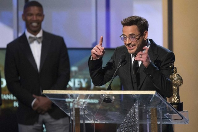 Robert Downey Jr a reçu le prix Stanley... (Photo: Reuters)