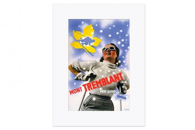 1939, une jeune femme à ski profite d'une... (Illustration de Herbert Bayer)
