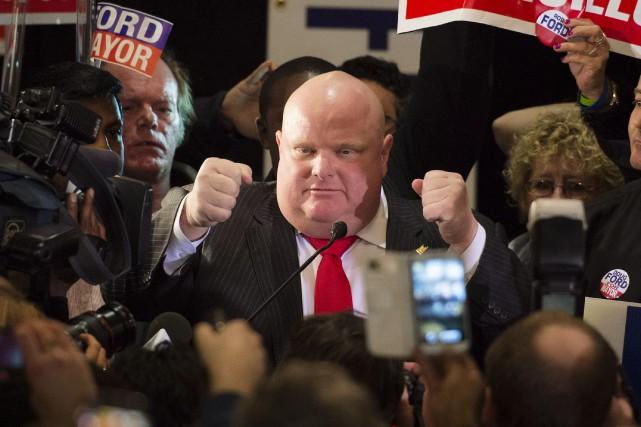 Rob Ford, qui est maire de Toronto jusqu'au... (Photo Darren Calabrese, La Presse Canadienne)