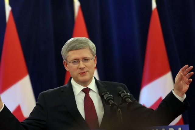 Le premier ministre Stephen Harper... (Photo FRED CHARTRAND, Archives PC)