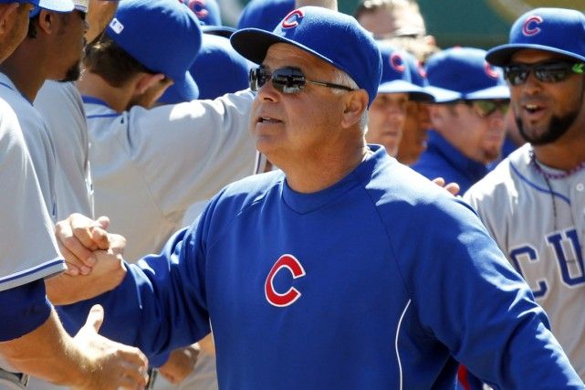 Le gérant des Cubs de Chicago, Rick Renteria.... (Photo Charles LeClaire, USA Today Sports)