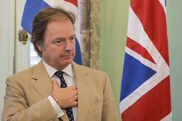 Le secrétaire d'État au Foreign Office, Hugo Swire, a... (PHOTO ADALBERTO ROQUE, AFP)