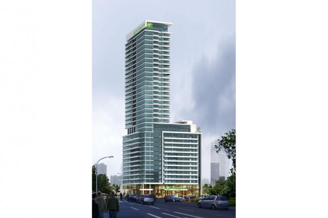 L'hôtel Holiday Inn occupera les 10 premiers étages... (Illustration fournie par Canvar)