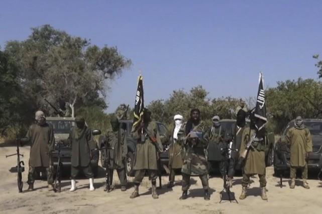 Photo tirée d'une récente vidéo diffusée par Boko... (Photo Archives AFP)