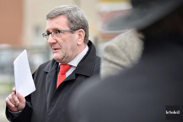 M. Labeaume a réitéré vendredi que le maire... (Le Soleil, Pascal Ratthé)