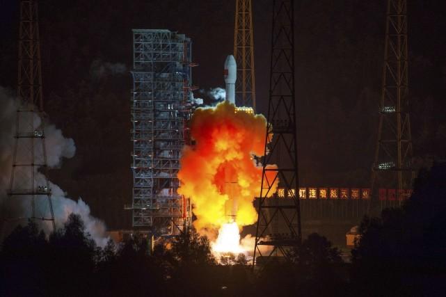 La sonde avait été lancée le vendredi 24... (Photo CHINATOPIX, AP)