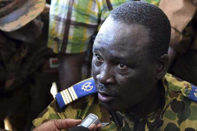 Le lieutenant-colonel Isaac Zida... (PHOTO ISSOUF SANOGO, AFP)