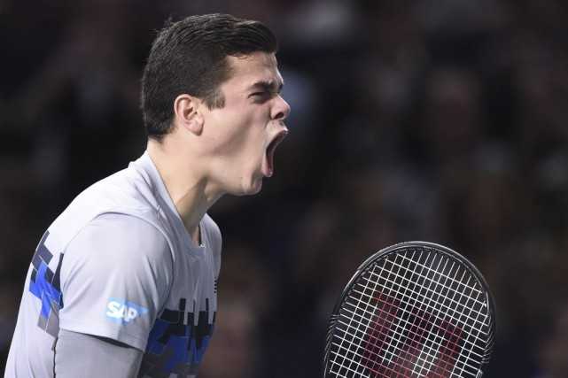 Milos Raonic... (Photo Franck Fife, Agence France-Presse)